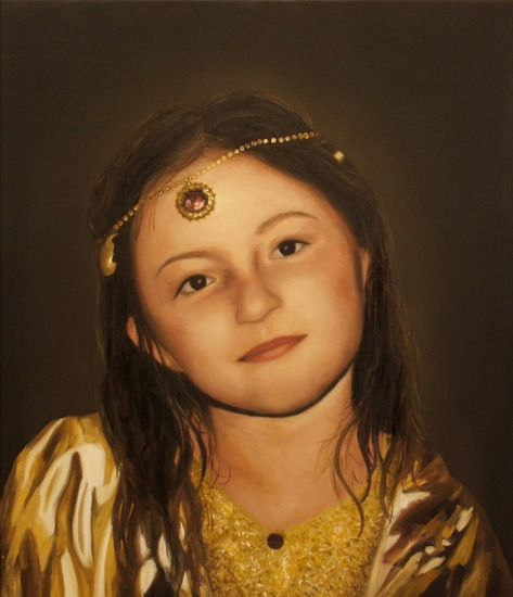 Portrait in oil of my daughter Ayla