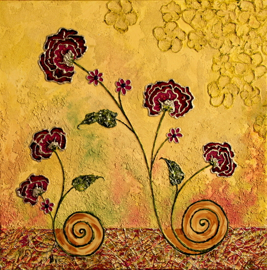 Tweeluik Fantasie Bloemen Abstract 2R