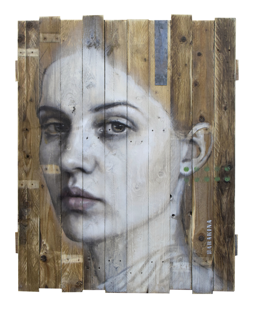 wood portrait alive