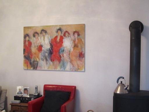Woonkamer Met Kunst : Joop van den berg kunst naast kachel