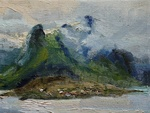 These are paintings from Norway in the 'small landscapes' series. Most have been made in my studio from photographs and scetches.