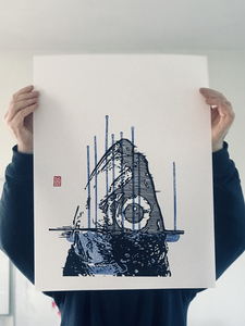 Each print is numbered, hand printed and original, no copies or glicee. Limited edition and hand signed.