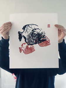 Each print, hand printed and original, no copies or glicee. Open edition and hand signed.