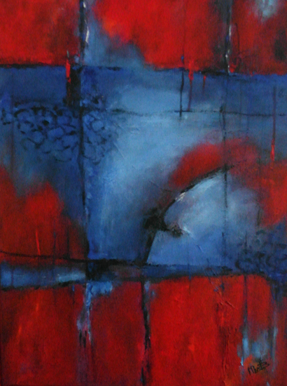 abstract rood/blauw