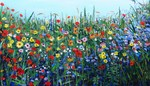 A selection o flower paintings