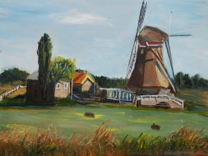Landscape with a windmill2