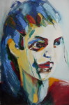 combinatie abstract met portret