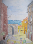 These watercolours have been made by me in Volterra, San Gimagnano, Siena, on the isle of Elba and at the Ligurian coast in Italy.