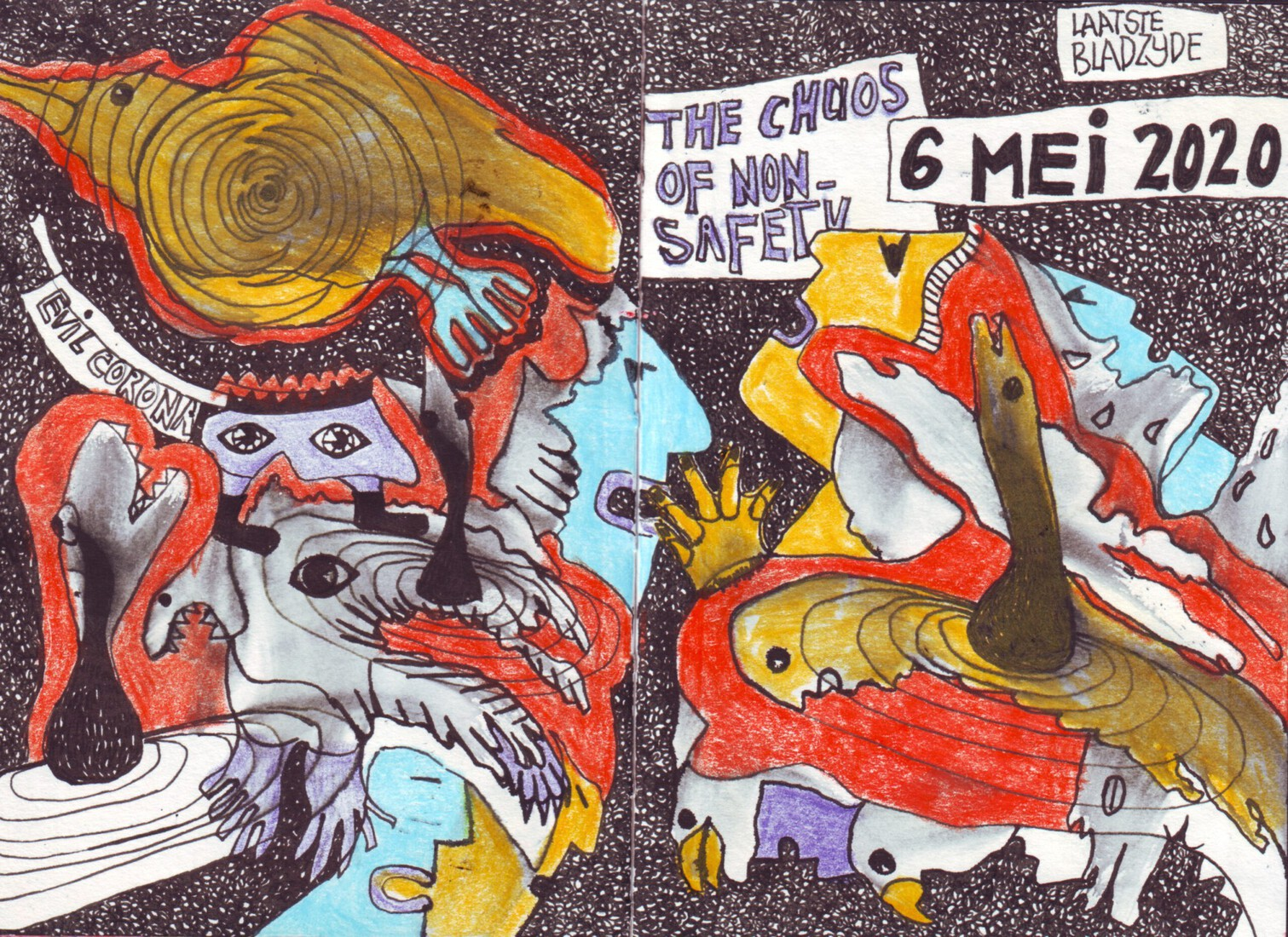 Outsiderart; Coronacrisis ; The chaos of non-safety.