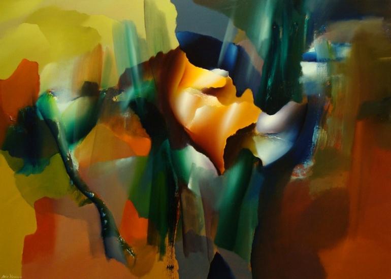 Arie koning rietkraag moderne schilderijen abstracte for Moderne schilderkunst