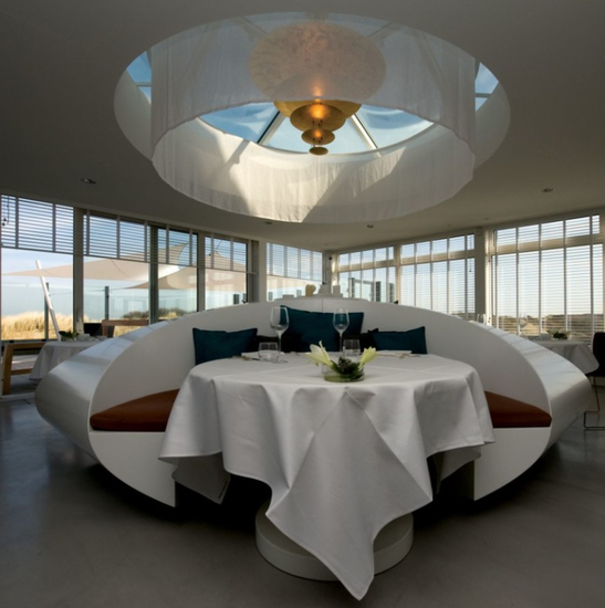 Interieur Restaurant Pure C, Sergio Hermans, Cadzand-Bad.