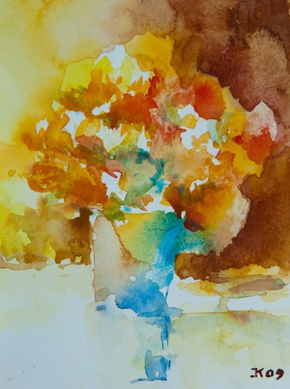 Chrysanten Aquarel
