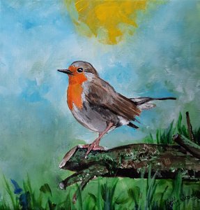 Little paintings of robins