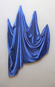 You can say that a cut-out is a painting without a background. In this way the painting gets something sculptural like a Trompe l'oeil. It can be like a wall object or as well free-standing.The fascinating aspect of it is that it starts a 'dialogue' with the wall or space. While a 'normal' painting with a frame closes that of.