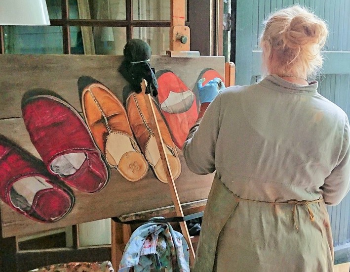 painting in my atelier