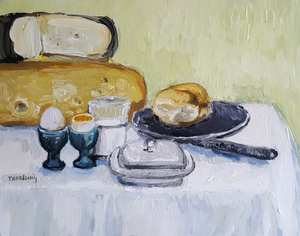 Still life food in an expressionist styl