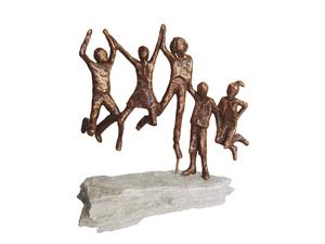 Kleine Bronzen Beeldjes.Elly Hendrix Galerie