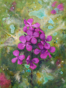 Paintings other than abstract, impressions of nature and flowers.