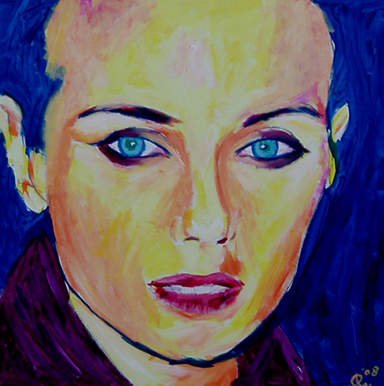 Mia Kirshner, one hour painting
