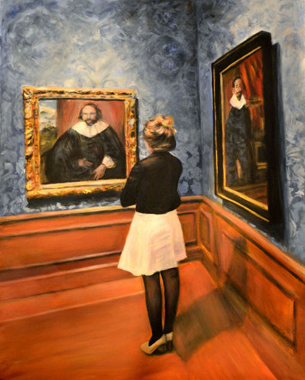 Watching Old Dutch Masters, ( at Mauritshuis Museum The Hague, The Netherlands