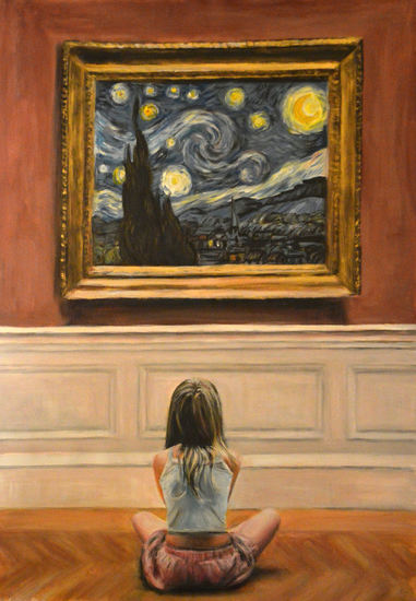 Watching Starry Night Van gogh