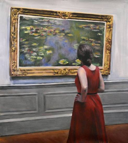 Watching Monet waterlillies