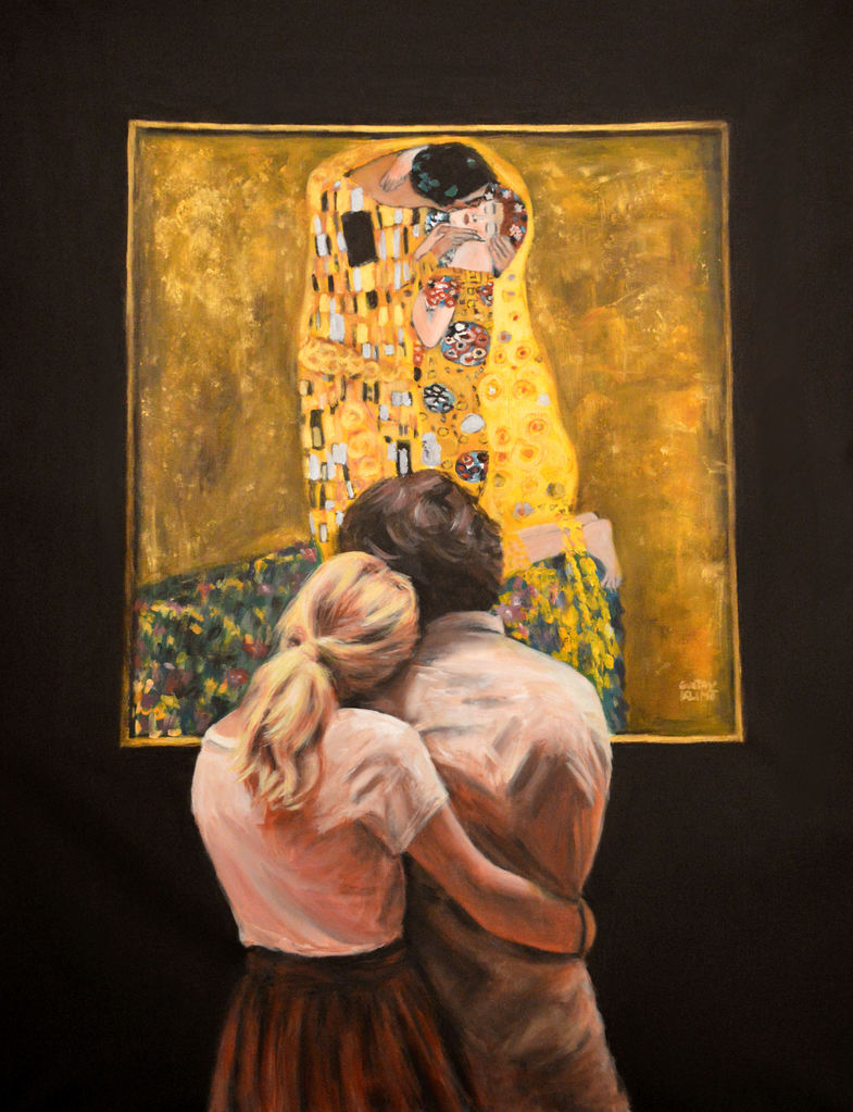 Watching Klimt ( The Kiss)