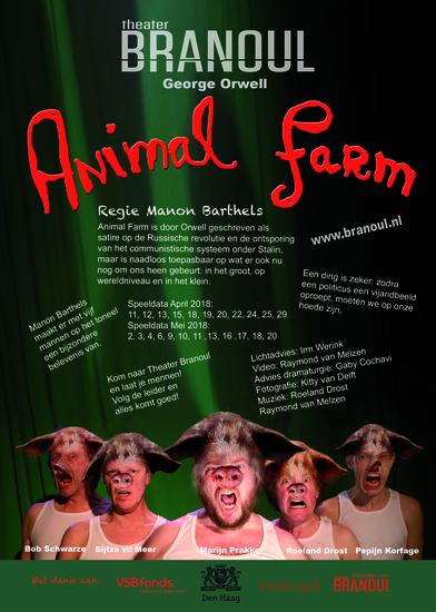Animal Farm Theater Branoul speellijst